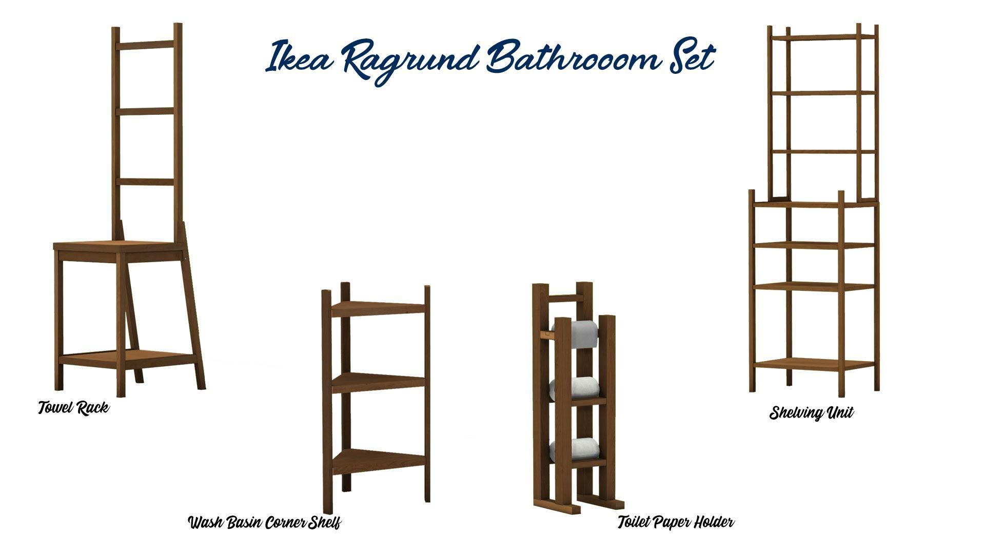 Ikea Ragrund Bathroom Set, high quality sims 4 cc, sunkissedlilacs, free sims 4 furniture, sims 4 custom content,