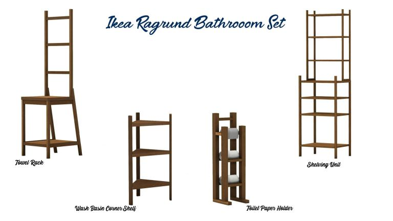 Ikea Ragrund Bathroom Set, high quality sims 4 cc, sunkissedlilacs, free sims 4 furniture, sims 4 custom content,