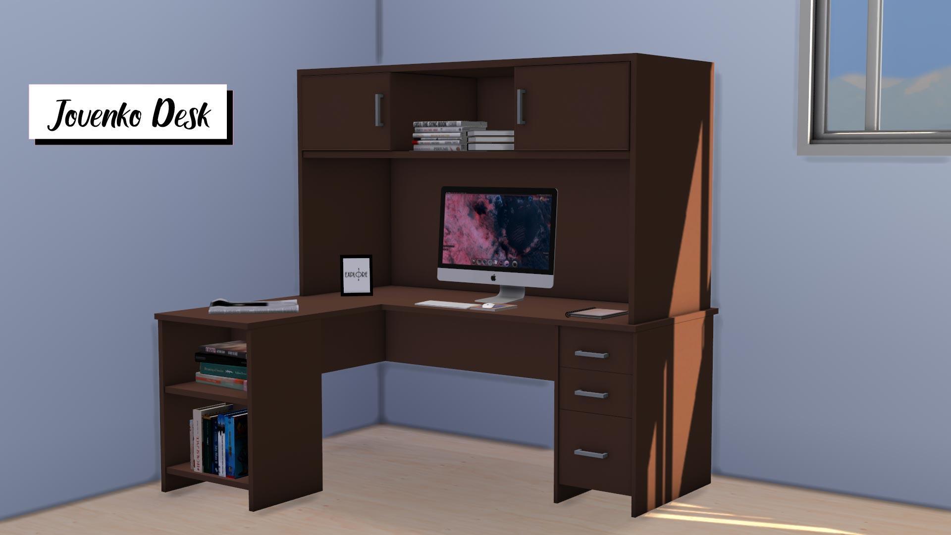 Jovenko Desk, high quality sims 4 cc, sunkissedlilacs, free sims 4 furniture, sims 4 custom content,