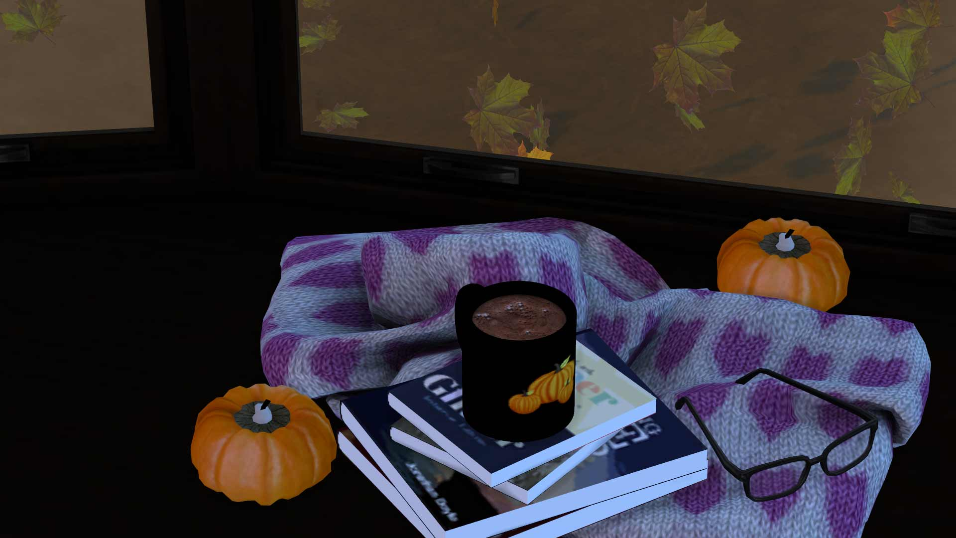 Autumn mugs hot chocolate, high quality sims 4 cc, sunkissedlilacs, free sims 4 furniture, sims 4 custom content,