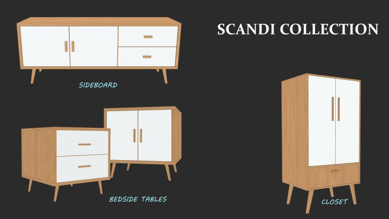 Scandi Collection, high quality sims 4 cc, sunkissedlilacs, free sims 4 furniture, sims 4 custom content,