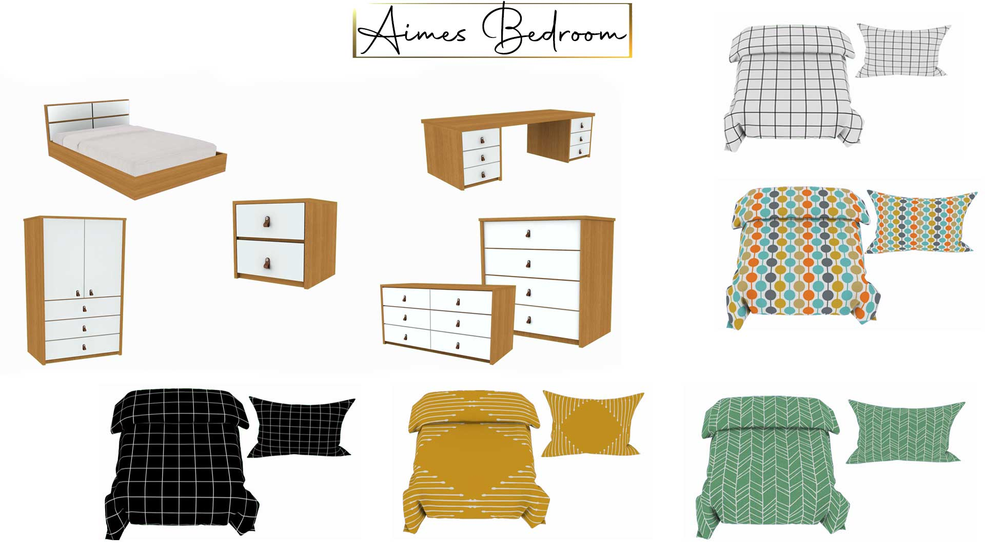 Aimes Bedroom, high quality sims 4 cc, sunkissedlilacs, free sims 4 furniture, sims 4 custom content,