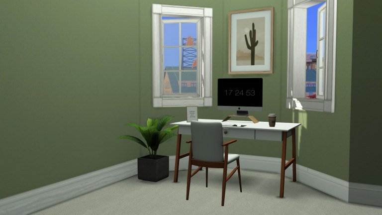 Melinda Study, high quality sims 4 cc, sunkissedlilacs, free sims 4 furniture, sims 4 custom content,