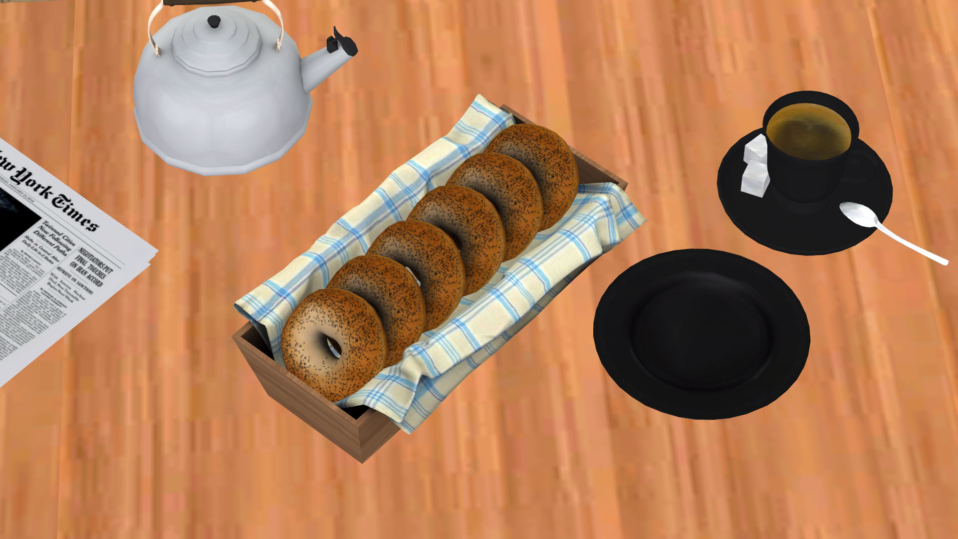 Breakfast Bagels, high quality sims 4 cc, sunkissedlilacs, free sims 4 furniture, sims 4 custom content,
