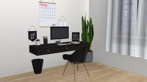 Lyxen Office, high quality sims 4 cc, sunkissedlilacs, free sims 4 furniture, sims 4 custom content,