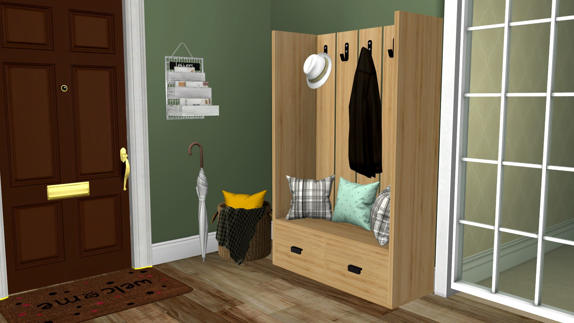 Carter Entryway Set, high quality sims 4 cc, sunkissedlilacs, free sims 4 furniture, sims 4 custom content,