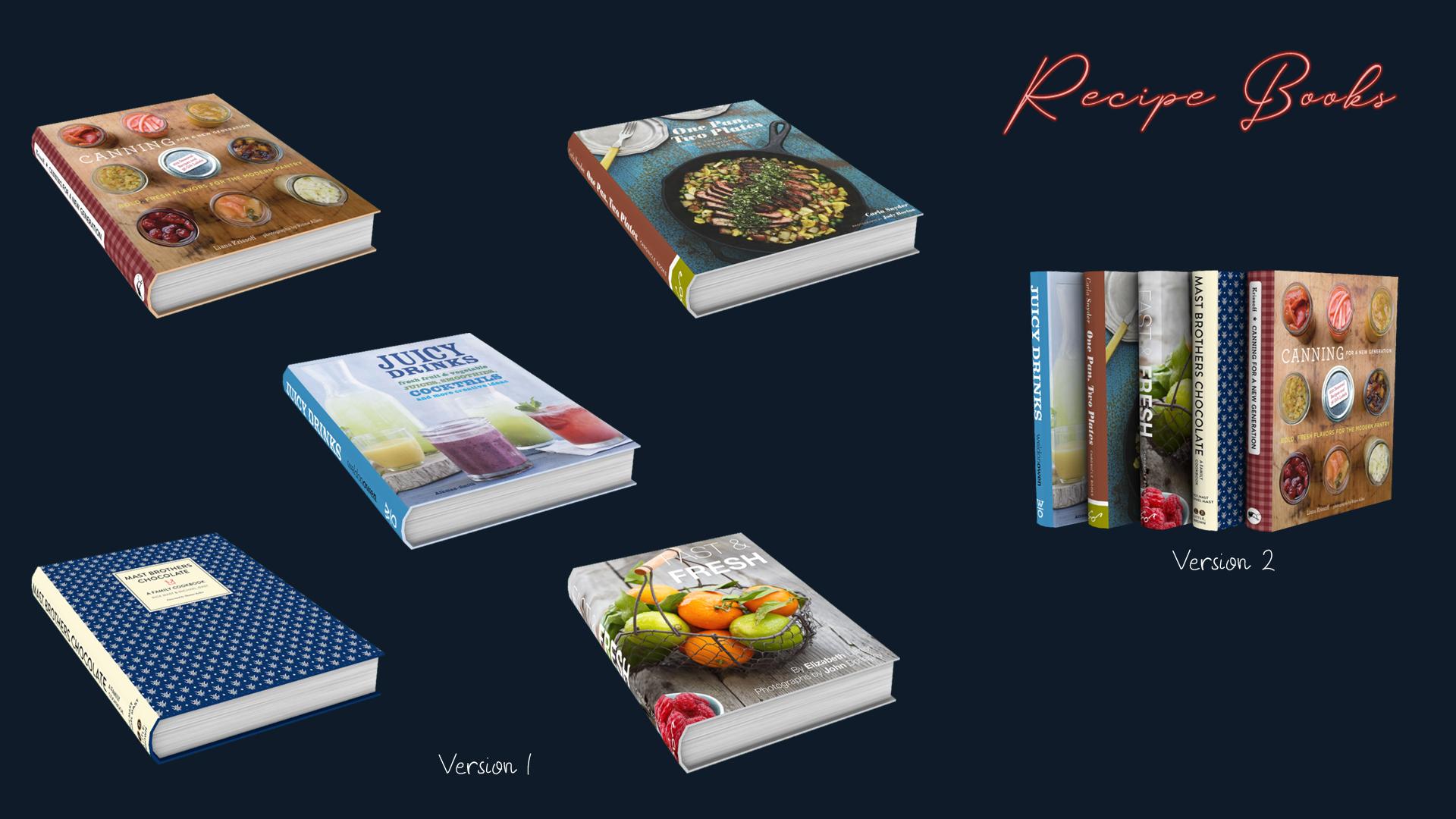 Recipe Books, high quality sims 4 cc, sunkissedlilacs, free sims 4 furniture, sims 4 custom content,