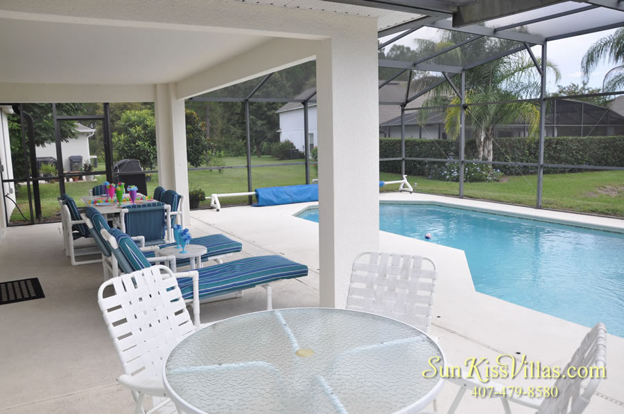 Orlando Vacation Rental Home Near Disney - Cypress Grand - Pool and Covered Lanai