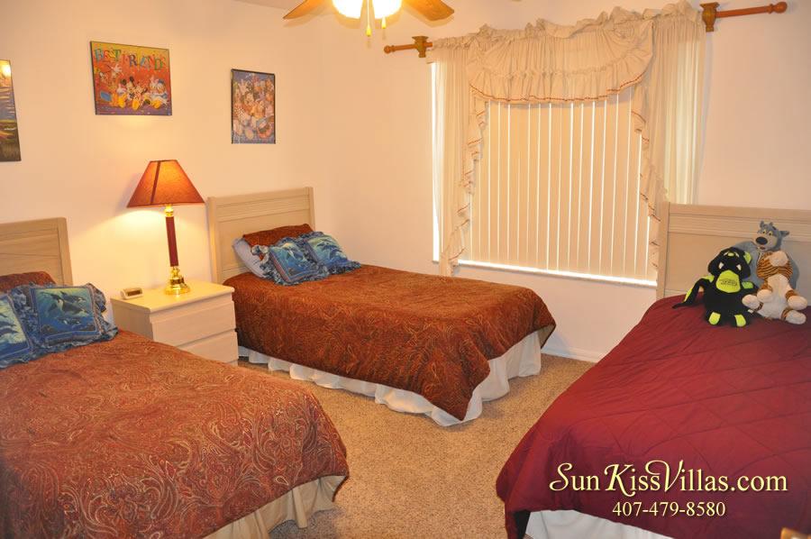 Disney Vacation Home Rental - Disney Palms - Twin Bedroom