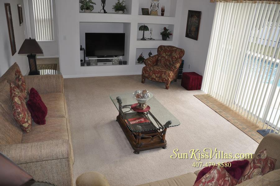 Orlando Disney Vacation Rental Home - Grand Oasis - Family Room