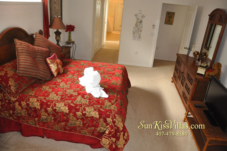 Orlando Disney Vacation Rental Home - Grand Oasis - Master Bedroom