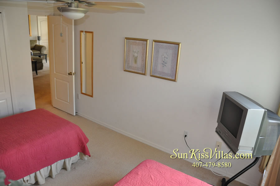 Orlando Disney Villa Rental - Grand Palms - Twin Bedroom
