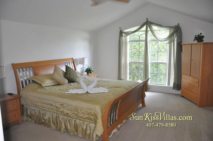Orlando Disney Villa Rental - Grand Palms - Second Master Bedroom