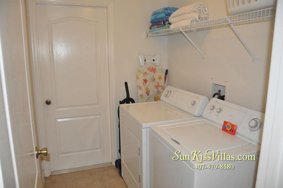 Orlando Disney Villa Rental - Grand Palms - Laundry Room