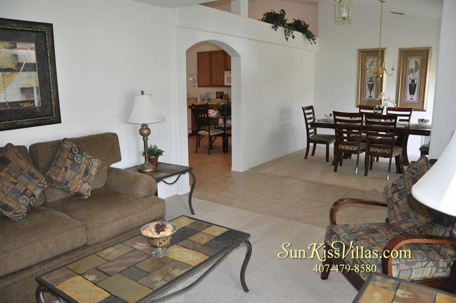 Orlando Disney Villa Rental - Grand Palms - Living Room