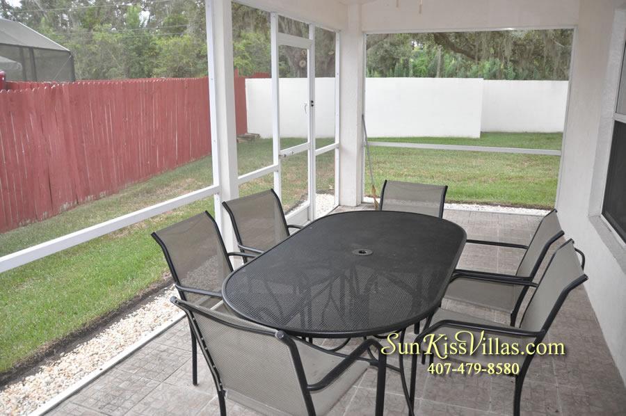 Orlando Villa Rental Near Disney - Keystone - Patio Dining