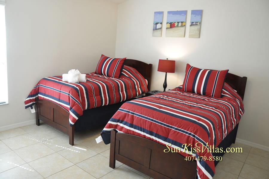 Disney Solana Vacation Rental Home - Mermaid Point - Twin Bedroom