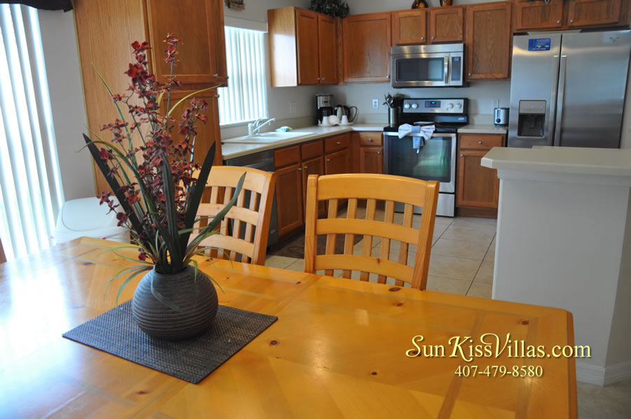 Orlando Disney Vacation Rental Solana - Pelican Point - Breakfast and Kitchen