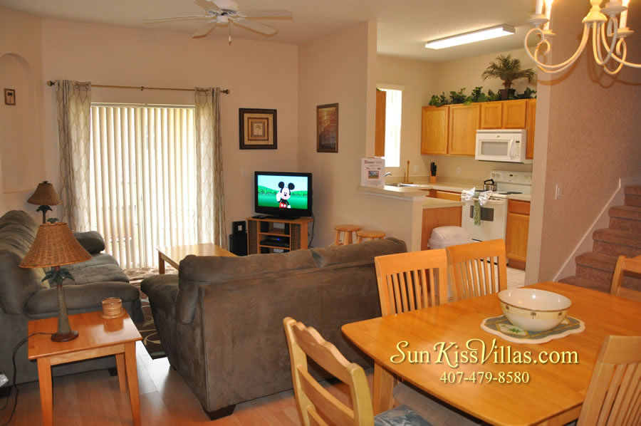 Disney Orlando Vacation Townhouse Rental - Quiet Cove - Family Room