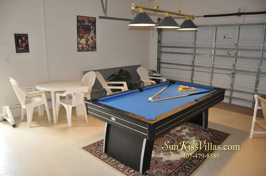 Vacation Home Rental Near Disney World - Sapphire Blue - Game Room