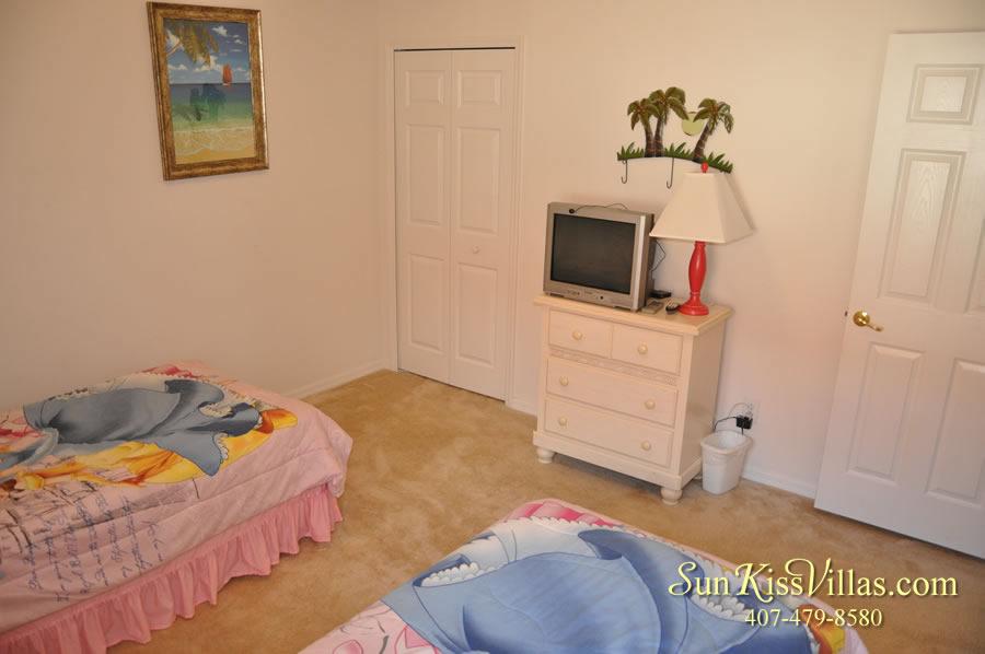 Vacation Villa Rental Near Disney - Emerald Cove - Twin Bedroom