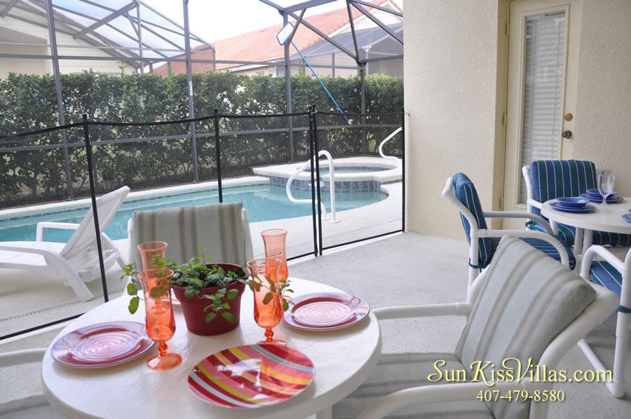 Vacation Villa Rental Near Disney - Emerald Cove - Pool and Covered Lanai