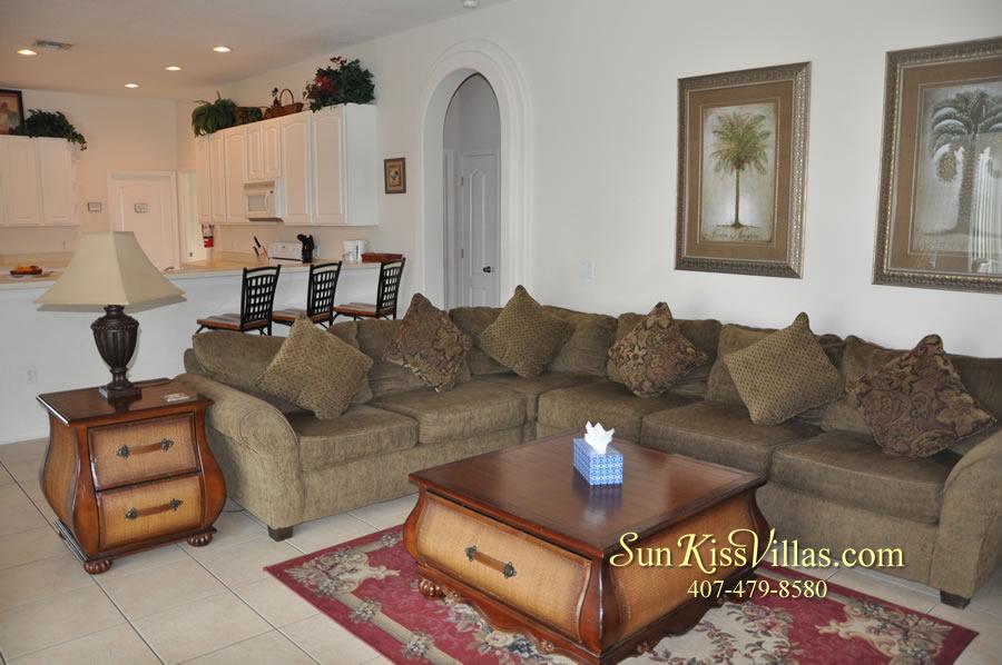 Disney Villa Rental - Heron Bay - Family Room