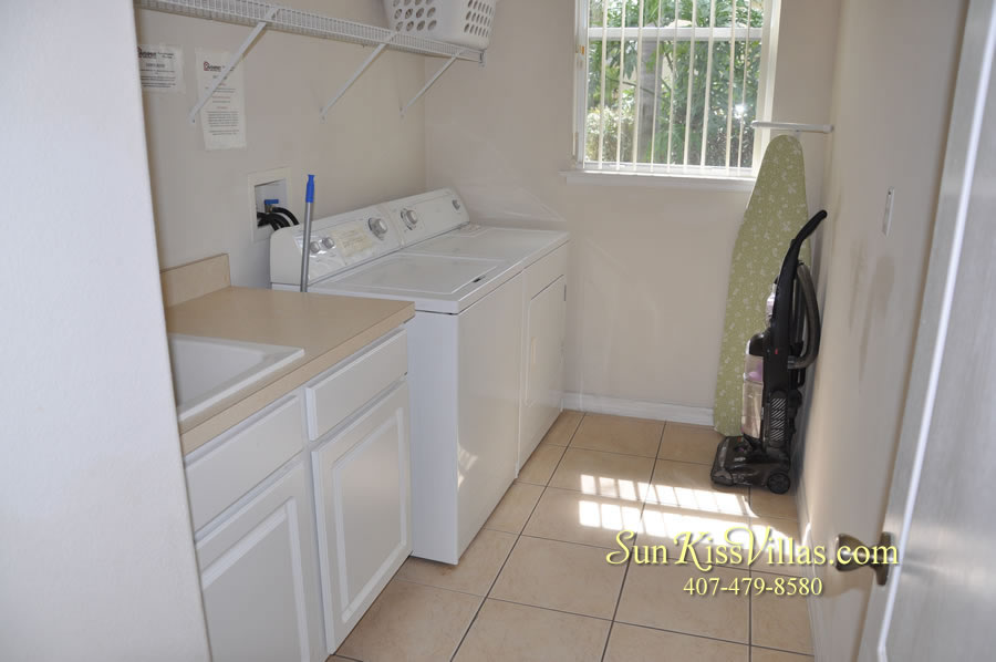 Disney Villa Rental - Heron Bay - Laundry Room
