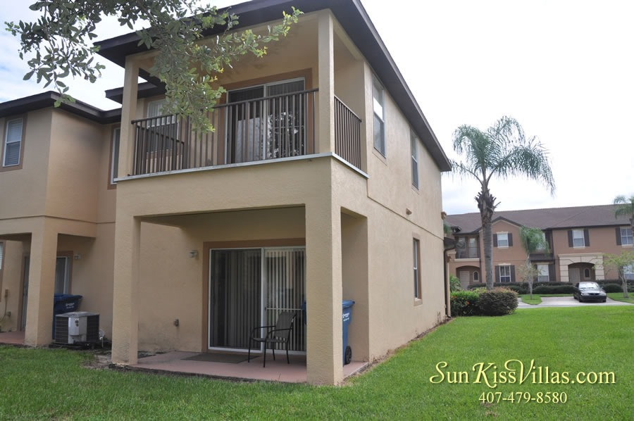 Vacation Townhouse Rental Disney - Trade Winds - Patio and Balcony