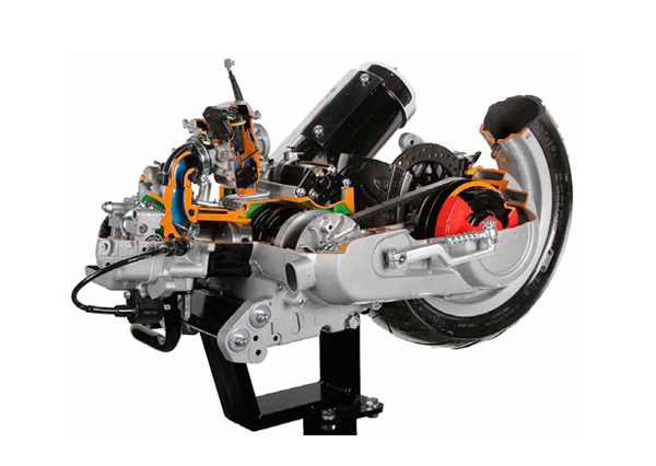 Cut Section Model Of Four Stroke Petrol Engine