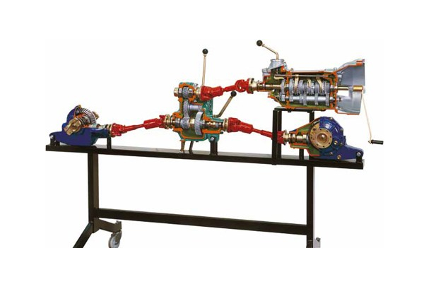 Working Model Of Vehicle Transmission Assembly With 5 Speed Manual Gearbox