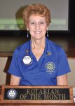 Rotarian of the Month Mary Louise Lansbarkis