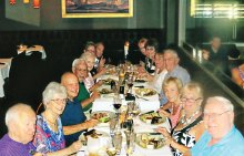 Cheers Singles Club members enjoyed a great evening at Chop on June 24!