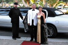 "Our March Oscar's Party event was one of last year's themed dances. Larry and Jan Ott ""arrive in style."" (Photo courtesy of Core Photography, LLC.)."