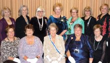 Pictured left to right - first row: Janice Hood, Barbara Hugus, Gillian Morse, Lesley Baran and Judith Mente; back row: Carolyn Hawkins, Julia Forrest, Jane Chiles, Antoinette Lutter, Betty Wells, Marjorie Nelson and Mary Wolf.