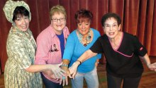The Futrelle sisters are together through thick and thin! They are Frankie (Janine Schneck), Twink (Andrea Hummel), Honey Raye (Ginger Henry) and Rhonda Lynn (Phyllis Novy).