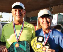 Venture Out 4.5 Men's Doubles Gold medal winners David Zapatka and Don Simmons