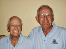Monty Meuwissen and Jim Czaja, winners of the annual Member/Guest tournament