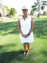 Cindy Bosch, Vice President, also handles the summer league golf for the Palo Verde ladies.