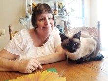Eileen with her cat Bella