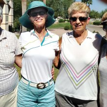 The late tee time gals: Beth Ebmeier, Glo Malmberg, Carol Jones and Barbara DeNapoli,