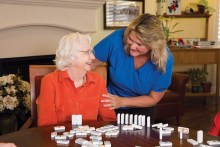 Trained staff at Mountain Park Senior Living can help your loved one maintain normal daily activities.