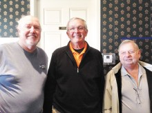 Pictured (left to right) President B. Beltz, Vice President Steve Westhoff and Treasurer Dan Yonker (Secretary G. McIntyre missing).