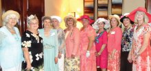 Pictured (left to right) Nancy Andrews, Betty Wells, Bonnie Clark, Suellen Eyre, Marjorie Nelson, Lesley Baran, Pamela Petersen, Carole Jones, Mary Knape and Judy Putnam.
