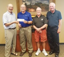 In August, the Cottonwood Palo Verde Foundation presented a $6,200 grant check to Eric Ehst, Executive Director of Neighbors Who Care, to upgrade their database software. Pictured (left to right) are Kelz Kelzenberg, Treasurer, Eric Ehst, Executive Director - Neighbors Who Care, Richard Hawkes, Director and Keith Nelson, Secretary.