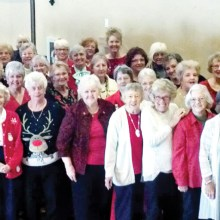About half of the Sun Lakes Women's Association membership was able to attend our Christmas luncheon at Cottonwood this last month.
