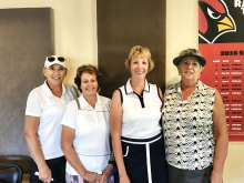 SLLGA Board, Treasurer Jeanne Nelson, Secretary Gloria Mundy, President Betty Ulrich and Vice President Diane Grosse