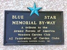 Blue Star Memorial plaque honoring our veterans.