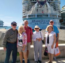 Sun Lakers and friends on new RCCL Ship Harmony of the Seas