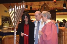Dedication of new menorah in memory of Jack Dante.